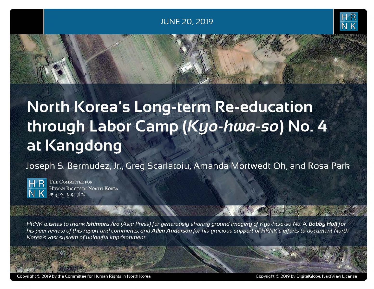 North Korea's Long-term Re-education through Labor Camp (Kyo-hwa-so) No. 4 at Kangdong