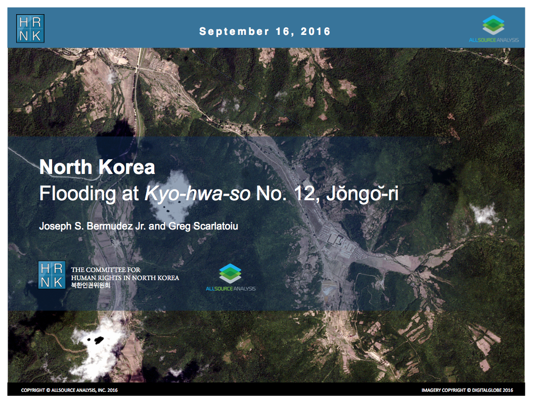 North Korea: Flooding at Kyo-hwa-so No. 12, Jongo-ri